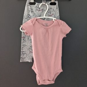 Carter's onesie/bodysuit and leggings puppy outfit